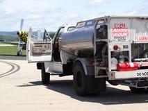 Combustible de la aviación entregado Imagen de archivo libre de regalías