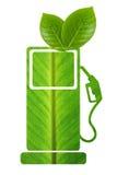 Combustible verde con las hojas fotos de archivo