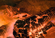 Combustion. Burning fire or combustion in the furnace royalty free stock photography