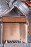 Combustion chamber of the gas boiler Stock Image