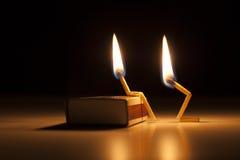 Combustion dans l'amour - Photos libres de droits