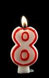Combustion de huit bougies Photographie stock