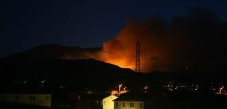 Combustion par la nuit image libre de droits