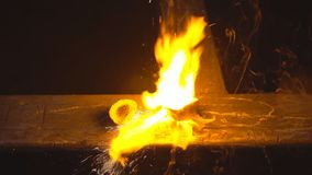 Increased oxygen burning. stock video footage