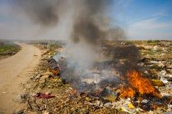 Combustione dei rifiuti Fotografia Stock