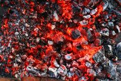 Combustione del carbone di legna Immagine Stock Libera da Diritti
