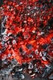 Combustione del carbone di legna Fotografie Stock Libere da Diritti