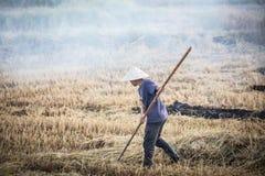 Combustione del raccolto del Vietnam fotografia stock libera da diritti