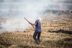 Combustione del raccolto del Vietnam fotografia stock