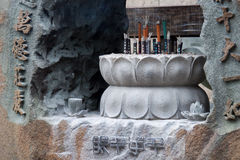 Combustione di incenso al tempio Fotografie Stock