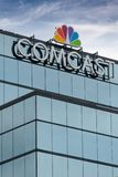Comcast Building and Trademark Logo royalty free stock images