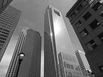 Comcast Center Philadelphia black and white Royalty Free Stock Photography