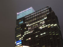 Comcast centrerar på natten Royaltyfria Bilder