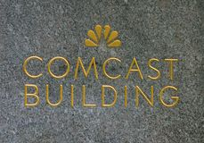 Comcast-Gebäude-Zeichen Lizenzfreies Stockfoto