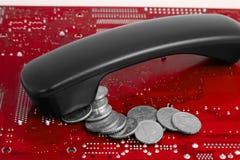 Começ o dinheiro após negociações Fotografia de Stock Royalty Free