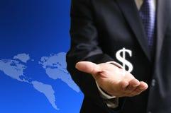 Começ o salário do maketing global Fotografia de Stock Royalty Free