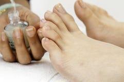 Começ os dedos do pé pintados Imagens de Stock Royalty Free