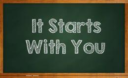 Começa com você Foto de Stock