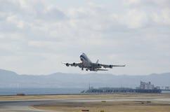 Começar plana de Boeing 747 Imagem de Stock