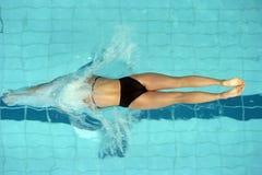 Começo 02 da nadada Imagem de Stock Royalty Free