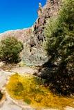 Começo da fuga a Darwin Falls fotografia de stock