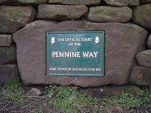 Começo da maneira do Pennine, Inglaterra do norte fotografia de stock royalty free
