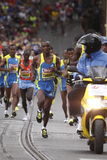 Começo da meia maratona de Praga Foto de Stock Royalty Free