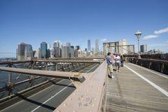 Começo da ponte de Brooklyn Imagem de Stock