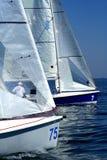 Começo da raça/de yachting da navigação Fotografia de Stock Royalty Free