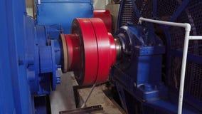 Começo liso do motor elétrico de alta tensão Rotação do acoplamento no motor elétrico 4K filme