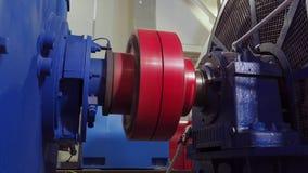 Começo liso do motor elétrico de alta tensão Rotação do acoplamento no motor elétrico 4K video estoque