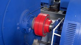 Começo liso do motor elétrico de alta tensão Rotação do acoplamento no motor elétrico 4K vídeos de arquivo