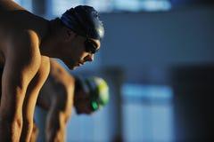 Começo nadador Imagem de Stock Royalty Free