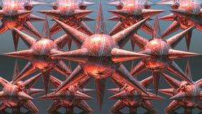Começos do vermelho com agulhas Imagem de Stock