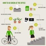 Come andare verde al infographics dell'ufficio Fotografie Stock Libere da Diritti