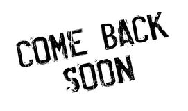 Come Back Soon rubber stamp Royalty Free Stock Image