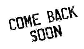 Come Back Soon rubber stamp Stock Images