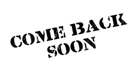 Come Back Soon rubber stamp Stock Photography