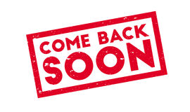 Come Back Soon rubber stamp stock illustration