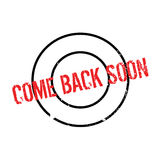Come Back Soon rubber stamp Royalty Free Stock Photography