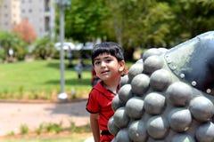 little boy hiding Royalty Free Stock Image