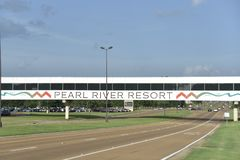 Pearl River Resort Footbridge, Choctaw, Mississippi. Come discover everything you need for the perfect getaway at the South's premier gaming and family stock photos