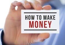 Come fare soldi Fotografie Stock
