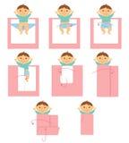 Come fasciare bambino illustrazione vettoriale
