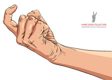 Come on hand sign, detailed vector illustration. Come on hand sign, detailed vector hand gesture illustration Royalty Free Stock Image