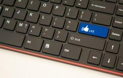 Come il concetto della tastiera del tasto Fotografia Stock
