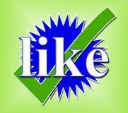 Come il controllo di Tick Means Social Media And Immagini Stock Libere da Diritti