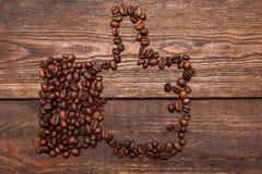 Come il gesto fatto dai chicchi di caffè Immagine Stock Libera da Diritti