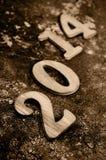 2014, come il nuovo anno Immagini Stock Libere da Diritti