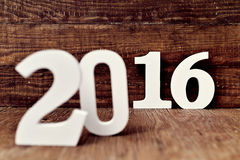 2016, come il nuovo anno Fotografia Stock Libera da Diritti